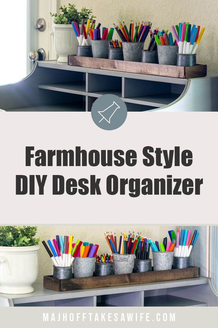 DIY Desk Organizer For School Supplies (With images