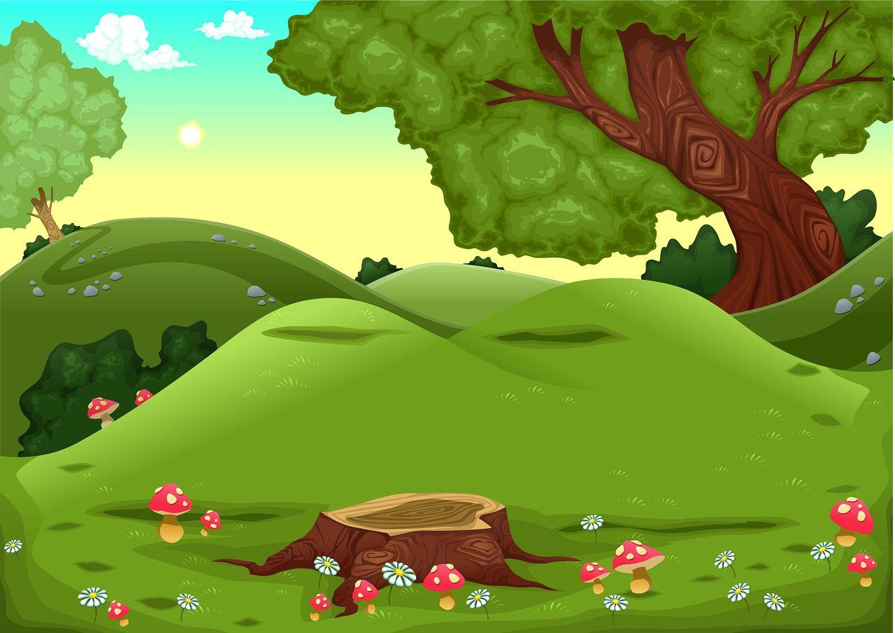 картинка сказочная поляна в лесу настоящее