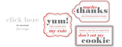 Ive always wanted to do a christmas cookie exchange these free free printable cookie exchange tags from joy ever after negle Image collections