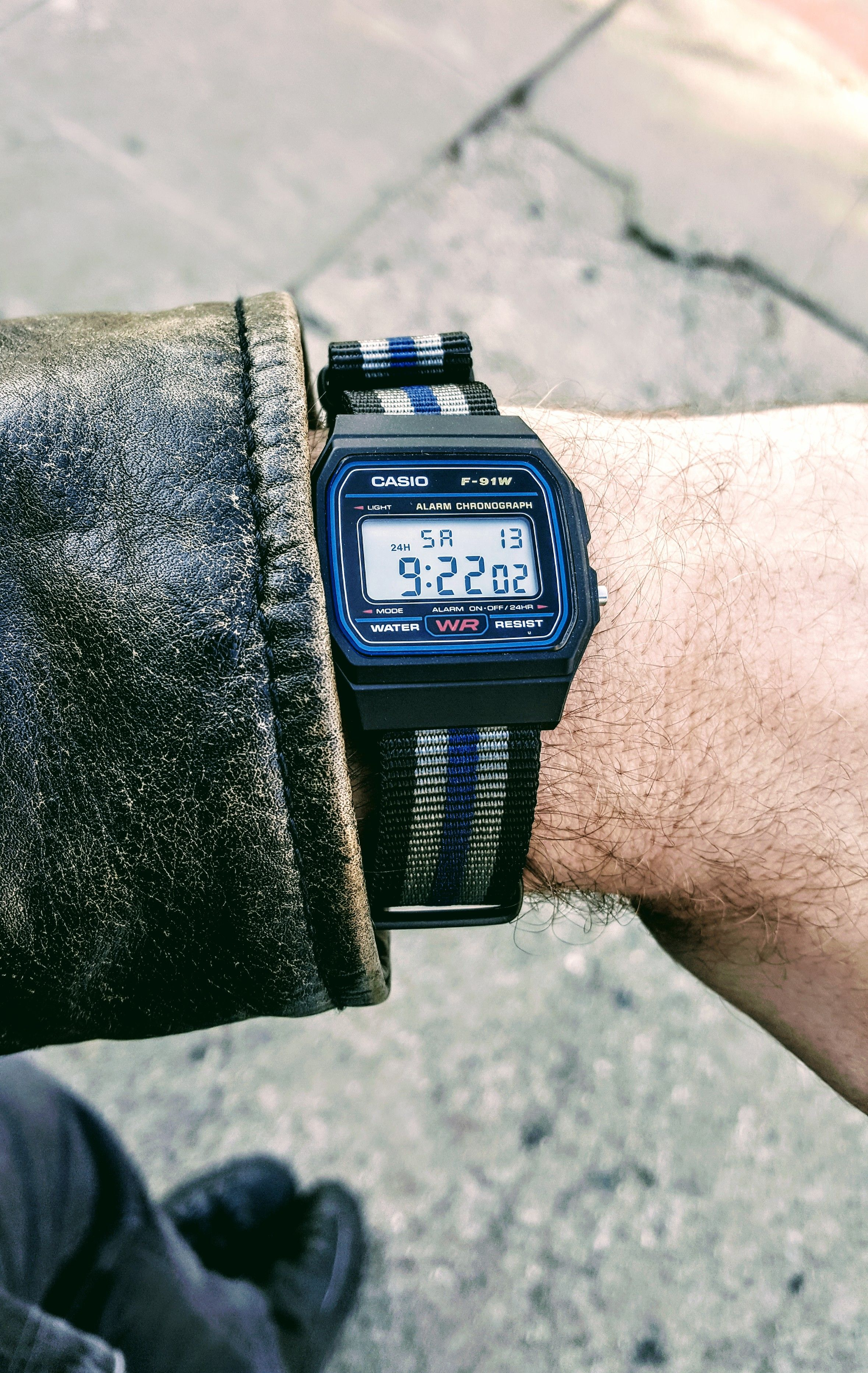 47567fcc956  Casio  Going digital today why not  F-91W NATO http
