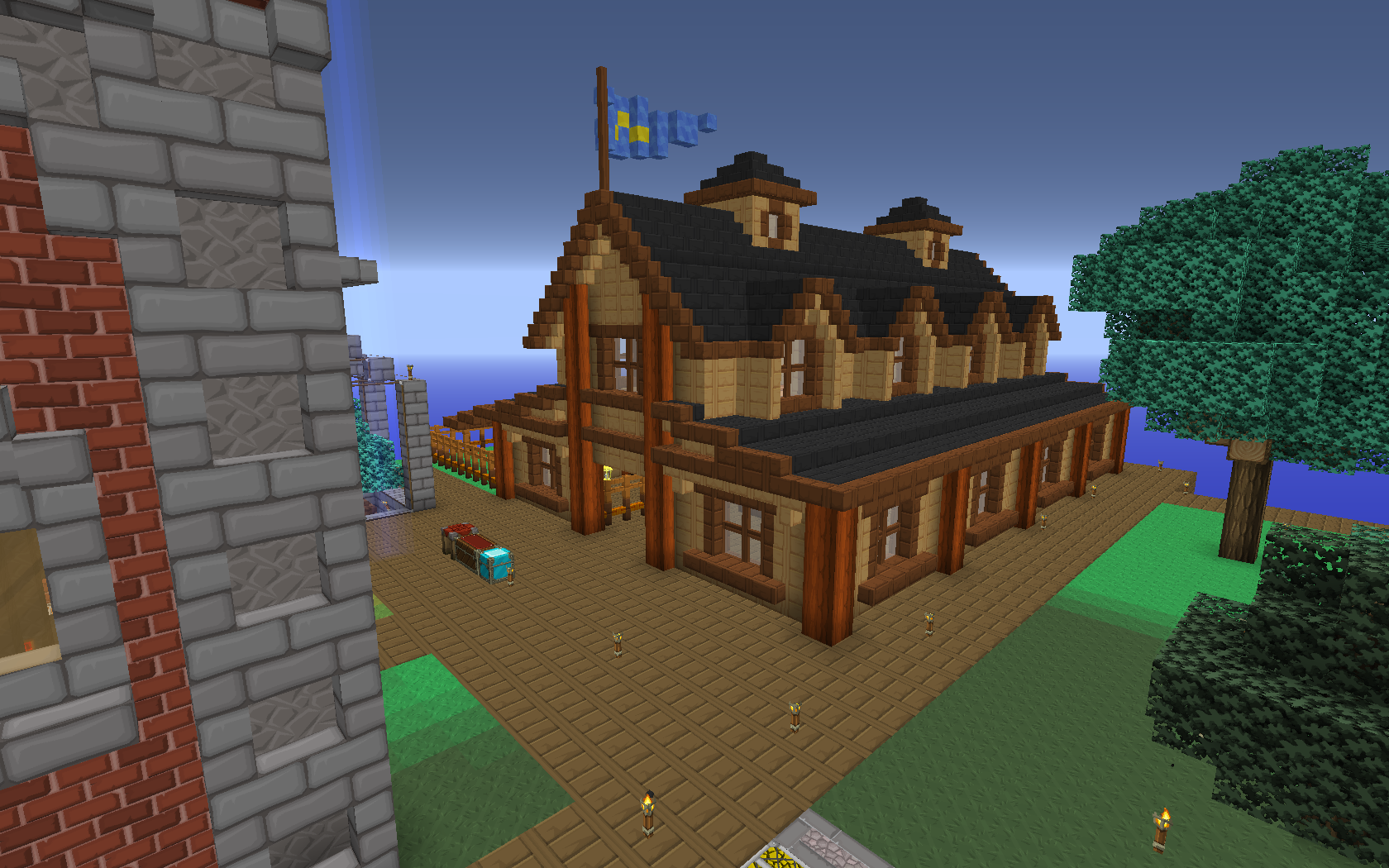 Maison Victorienne Minecraft My Agrarian Sky S Discworld Creative Mode Minecraft Java