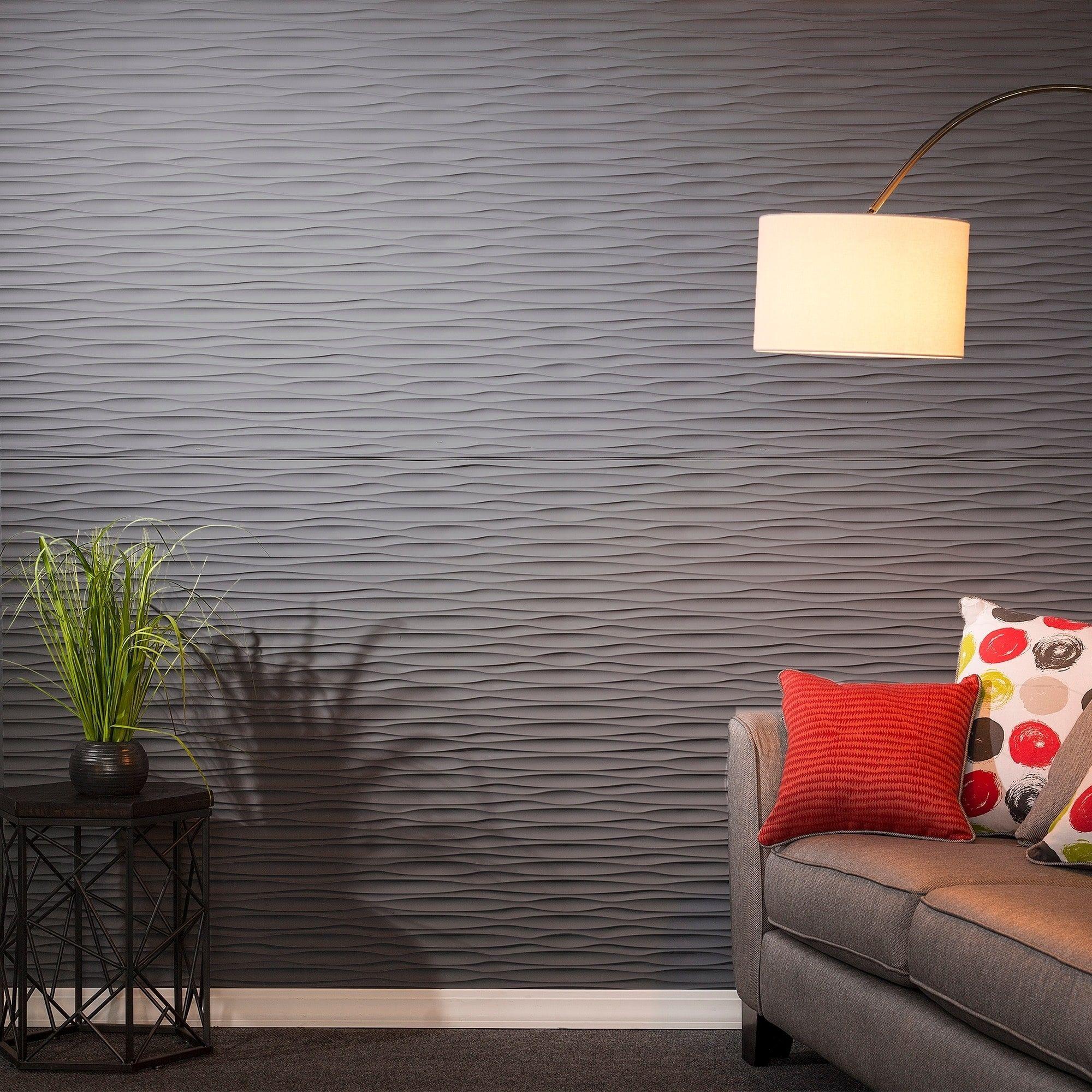 Fasade dunes horizontal titanium grey foot x foot wall panel