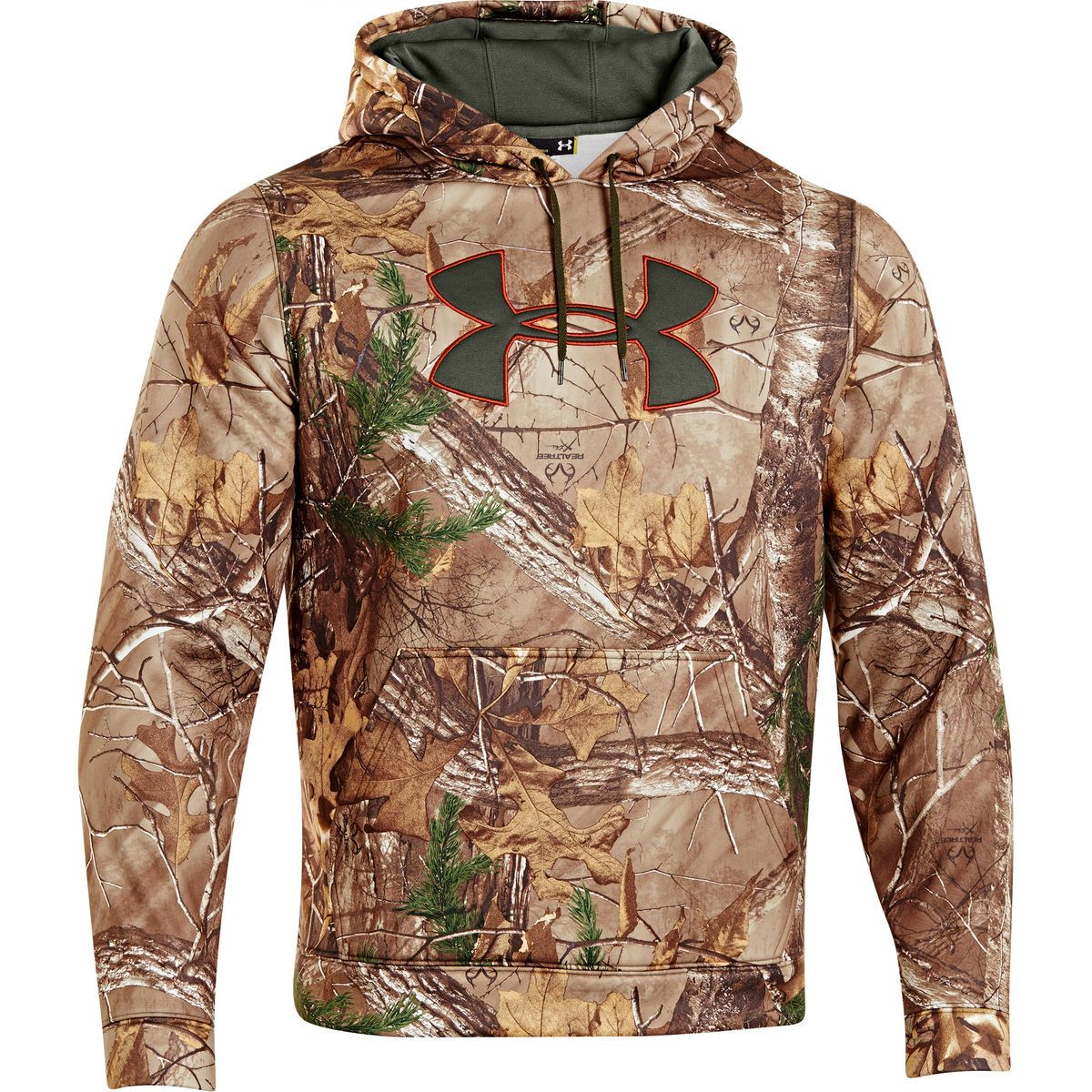 Under Armour Mens Camo Big Logo Pullover Hoodie 777248 Hoodies Hunting Clothes Under Armour Sweatshirts [ 1200 x 1200 Pixel ]