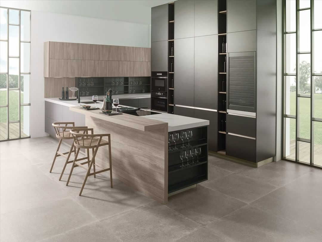 Porcelanosa On Instagram Safer And More Hygienic Kitchens Kitchen R1 60 Graffiti R1 10 Etimoe Land By Gamadecor Porcelanosagrupo Floor Tile Verbier Sil I 2020