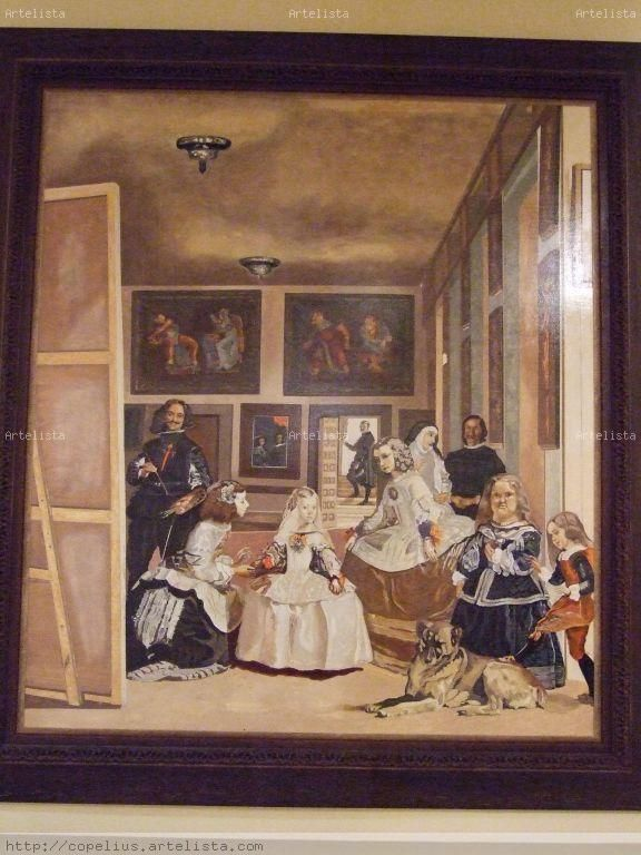 pinturas acuarela cuadros acr lico leo vitrales   Meninas ...