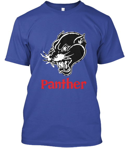 Panther Deep Royal T-Shirt Front
