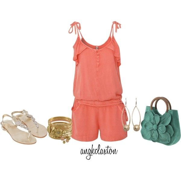 More Coral for Summer (Ribbon Washed Playsuit $16) $16
