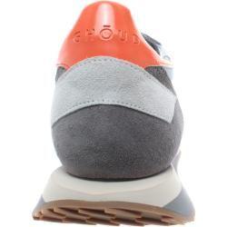 Photo of Ghoud Sneakers Mann Sneakers Niedrig Leder Hellblau Grau Orange