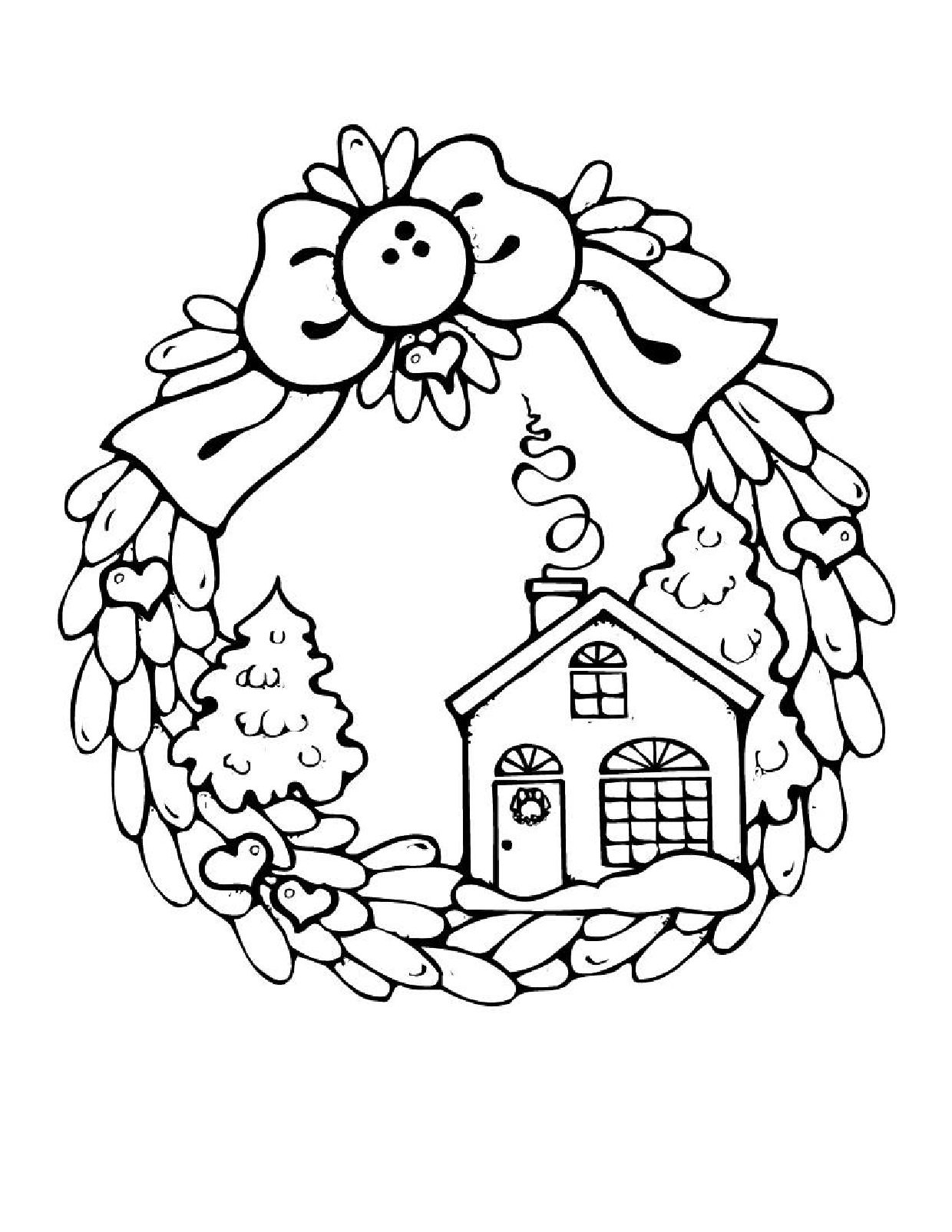 christmas houses coloring pages candy house coloring page