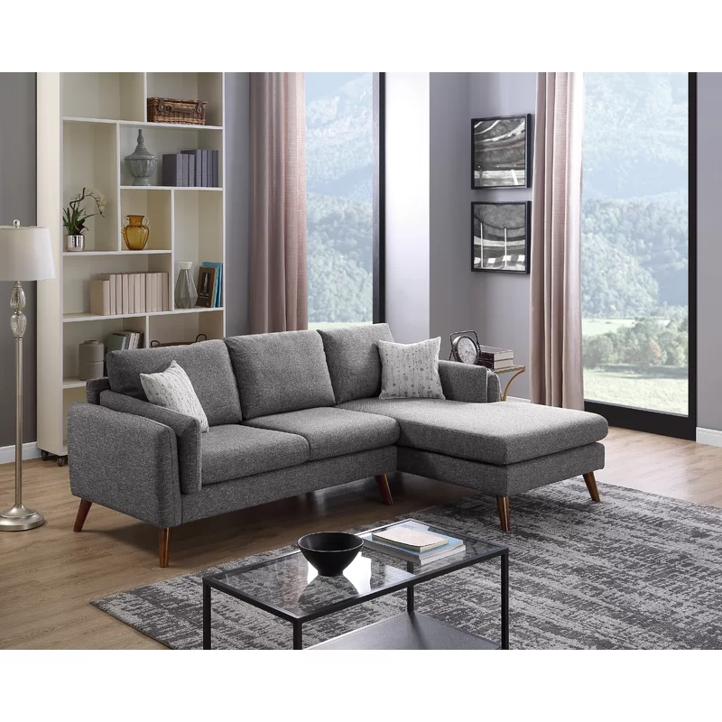 Ahmed Right Facing Stationary Sectional In 2020 Modern Furniture Living Room Furniture Modern Living Room