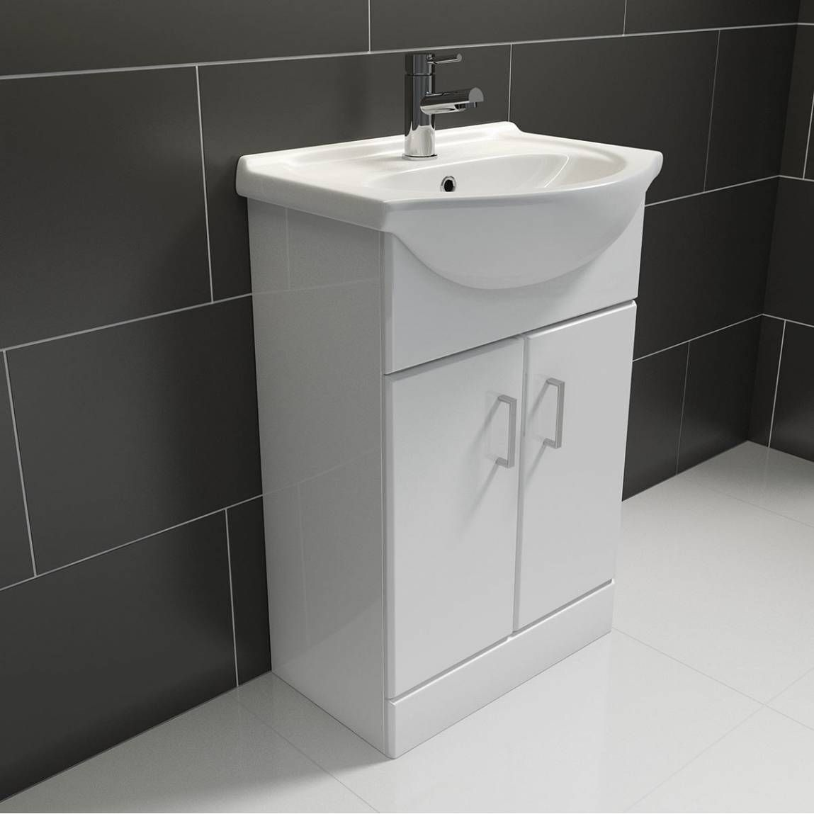 Sienna White Vanity Unit With Basin 650mm Offer Pack Small