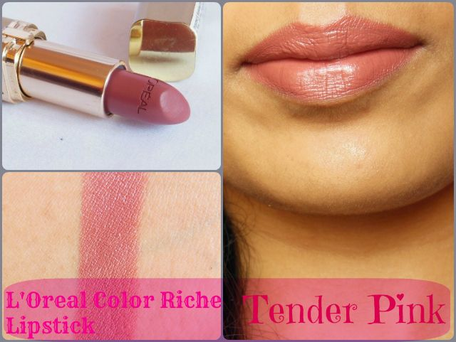 L'Oreal Paris Color Riche Lipstick – Tender Pink 114 Review ...