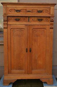 antike gruenderzeit schrank vertiko ca 1850 1880 aus eiche massiv a n t i q u e s. Black Bedroom Furniture Sets. Home Design Ideas