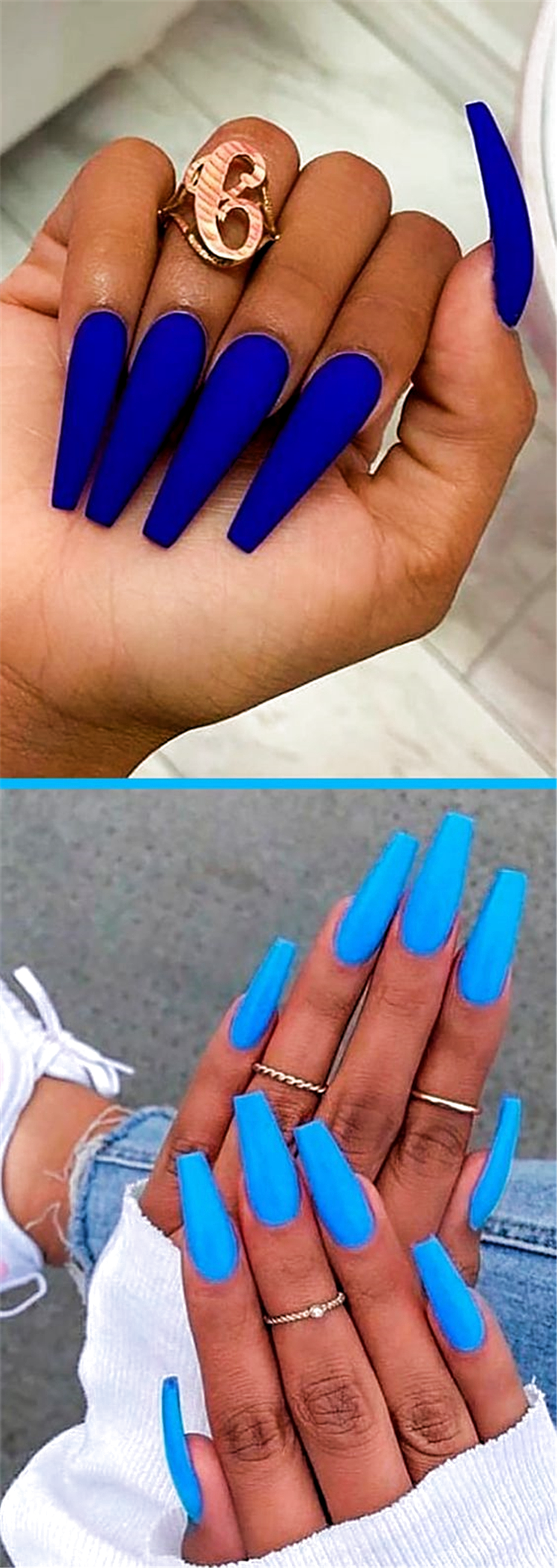 Beautiful But Simple Winter Acrylic Coffin Nail Designs You Need To Have For Hol