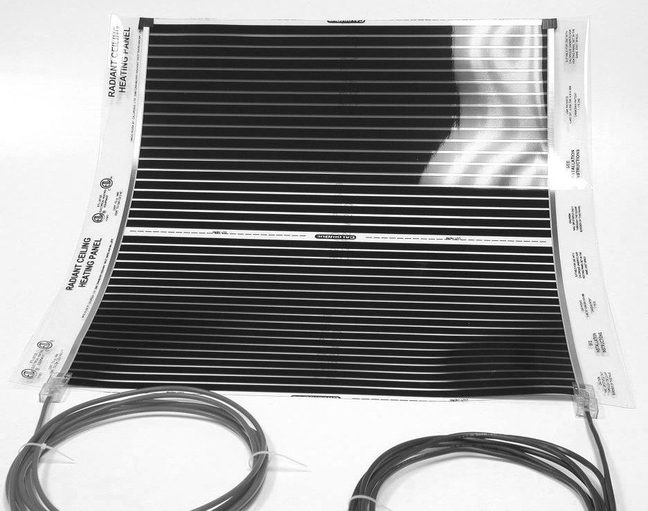 Ceiling Radiant Heating film 240v many variations of