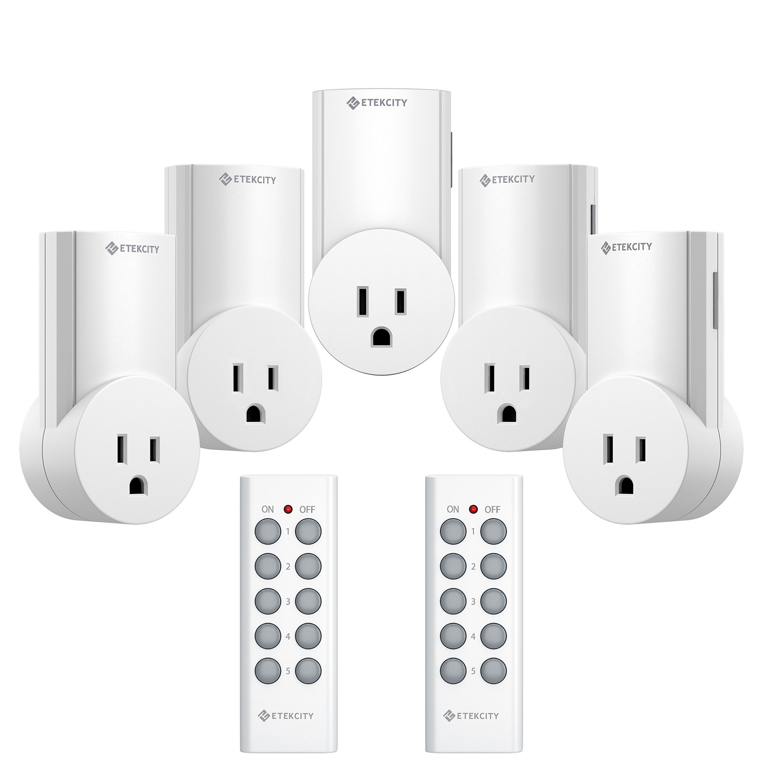 Etekcity Upgraded Version Wireless Remote Control Plug Electrical Outlet Switch Light Compatible With Clic White 5lx S
