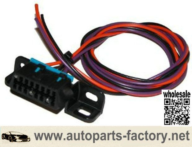 longyue factory sale OBD2 OBDII Pigtail 3 wire Connector