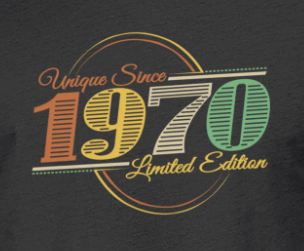 Birthday 1970 retro 50 years old Men's Premium T-Shirt | Spreadshirt