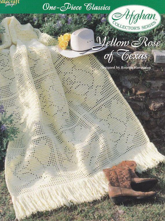Ruse Afghan Crochet Pattern Yellow Rose of Texas | Crochet patterns ...