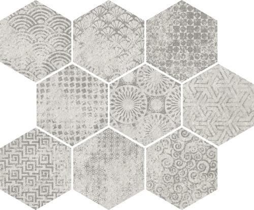 Ceramicas vives pavimentos hexagonales interiors tiles for Pavimento ceramico hexagonal