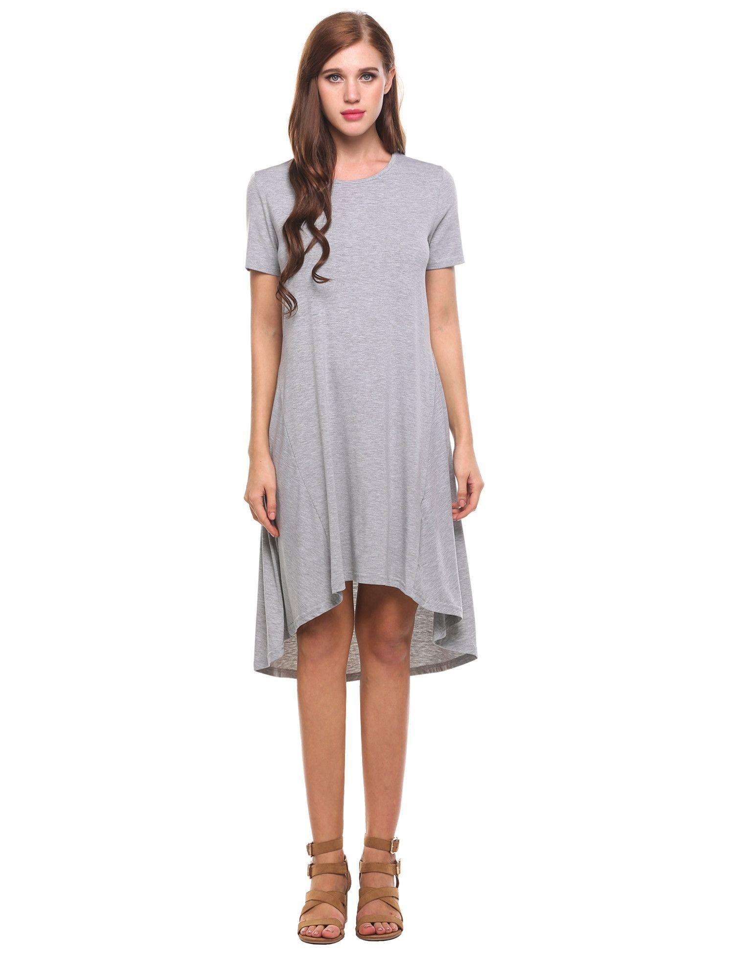 Pastel Short Sleeves Casual Dress