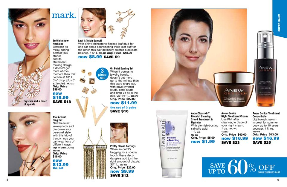 Limited supply clearance priced #jewelry, #skincare and more | #AVONrep