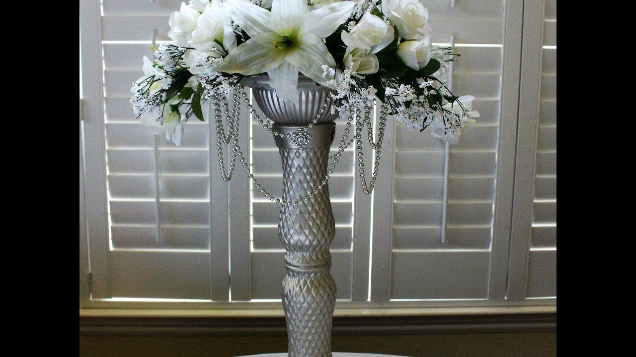 Diy Dollar Tree Chandelier Wedding Centerpiece Lights Up