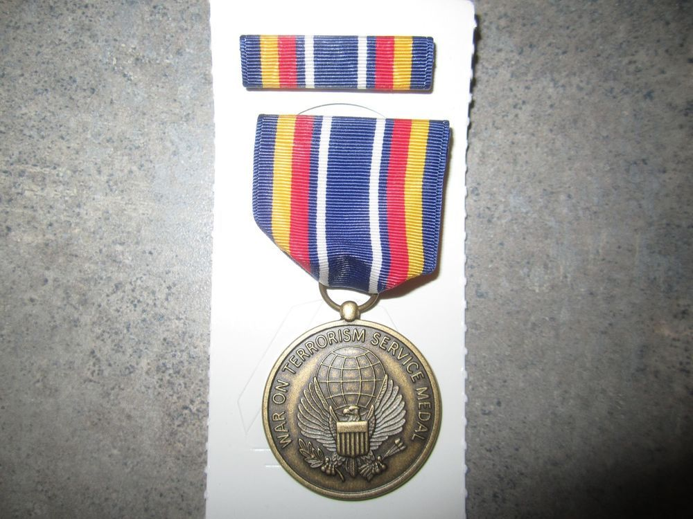 War on Terrorism Service Medal with Ribbon. Original.