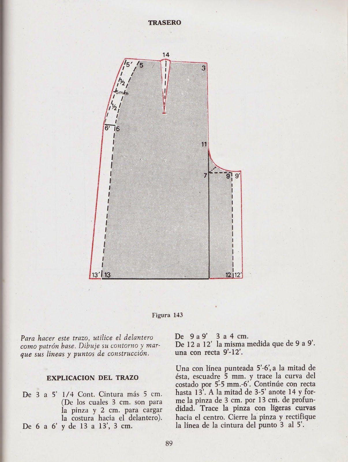 trazo trasero falda pantalon romi w | patrones, molderia | Pinterest ...