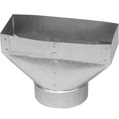 Imperial Metal Duct Gvl0175 4 In X 10 In X 5 In Galvanized Steel Straight Register Duct Boot Galvanized Steel Galvanized