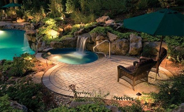 nice 15 swimming pool decks with sensational stone pavers, Garten und erstellen
