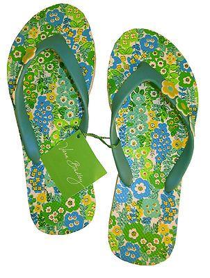 Vera Bradley Printed in English Meadow Flip Flops Sandals Thongs Med 7 8 New | eBay
