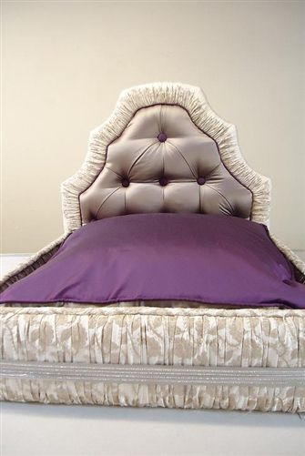 Exquisite Luxury Lavish Purple Dog Bed Beds Blankets Furniture Style Posh Puppy Boutique