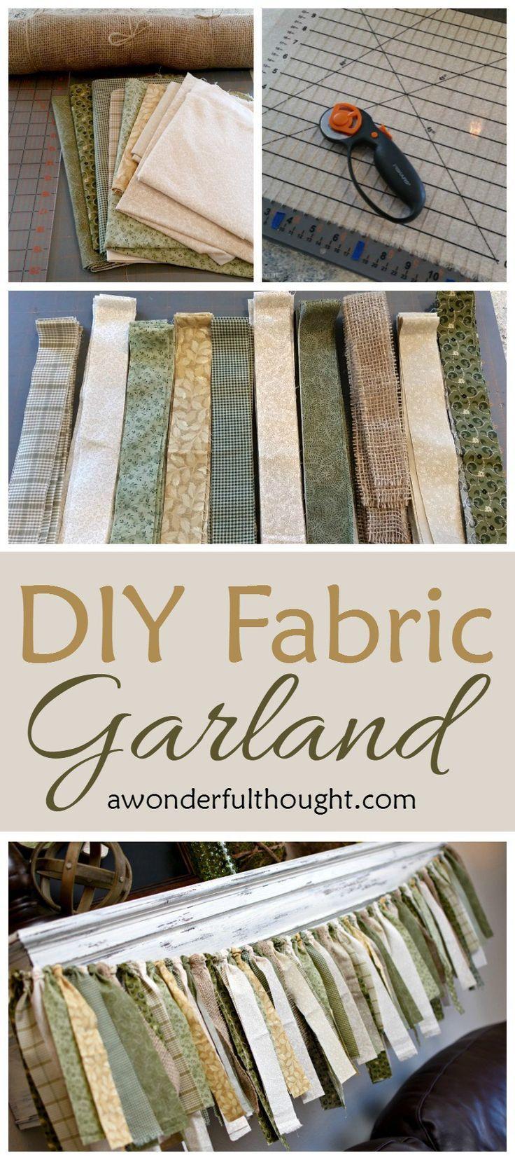DIY Fabric Garland awonderfulthoughtcom DIY Fabric