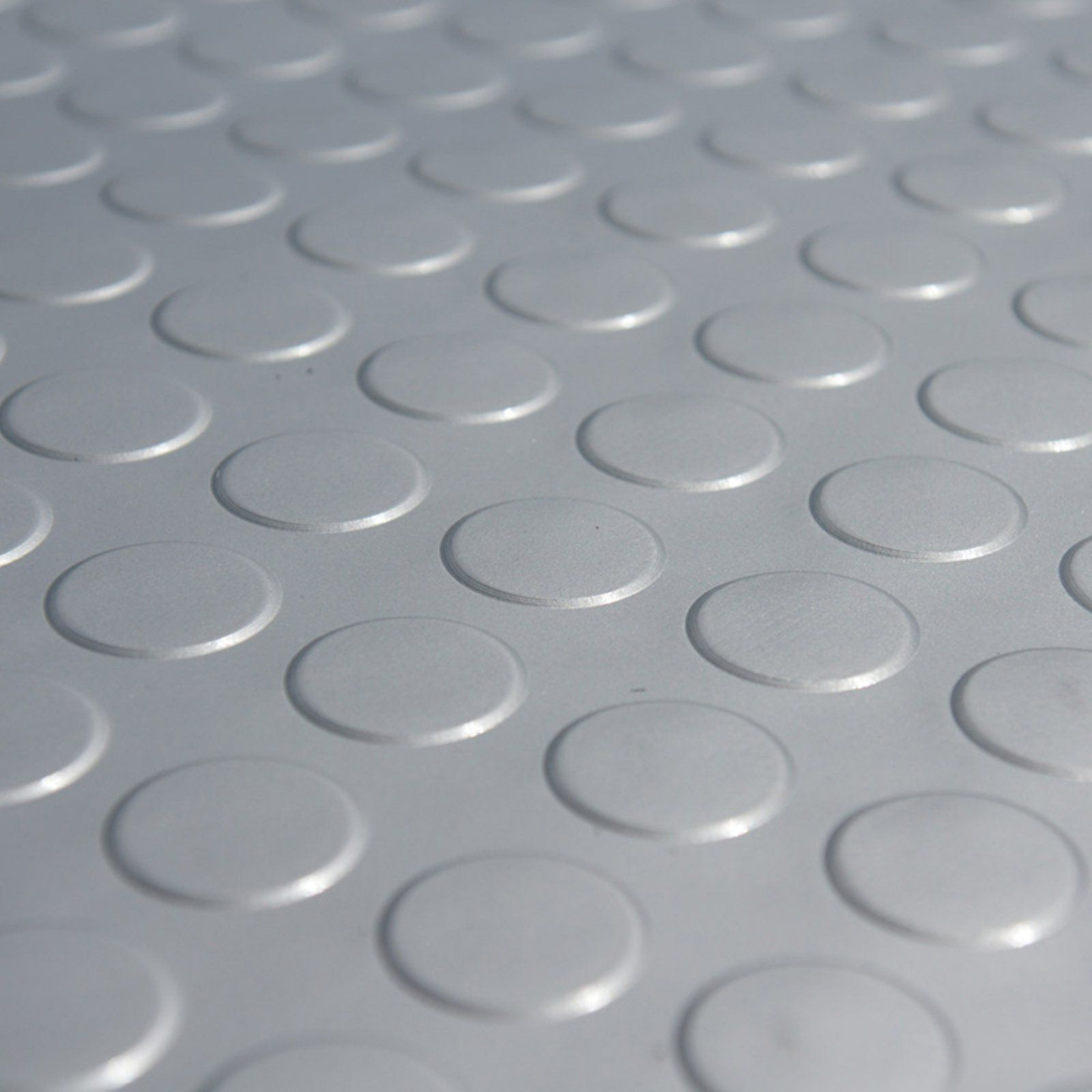 Rubber Cal Coin Grip Metallic Pvc Garage Flooring Silver In