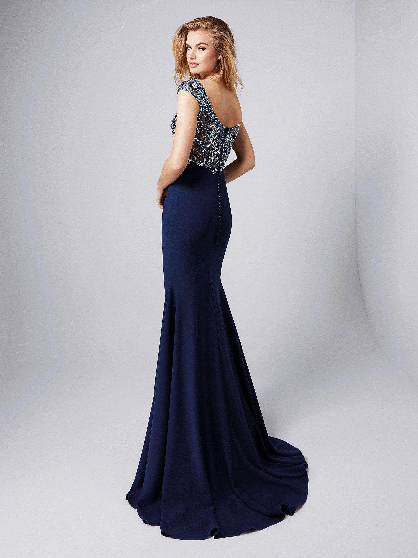 Vestido de gala sirena con cola - Colección fiesta 2018 Pronovias ...