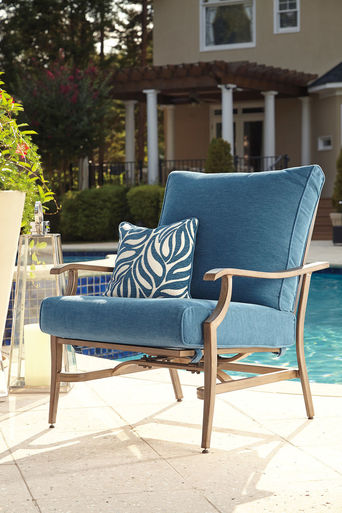partanna blue beige motion lounge chair products rh pinterest es
