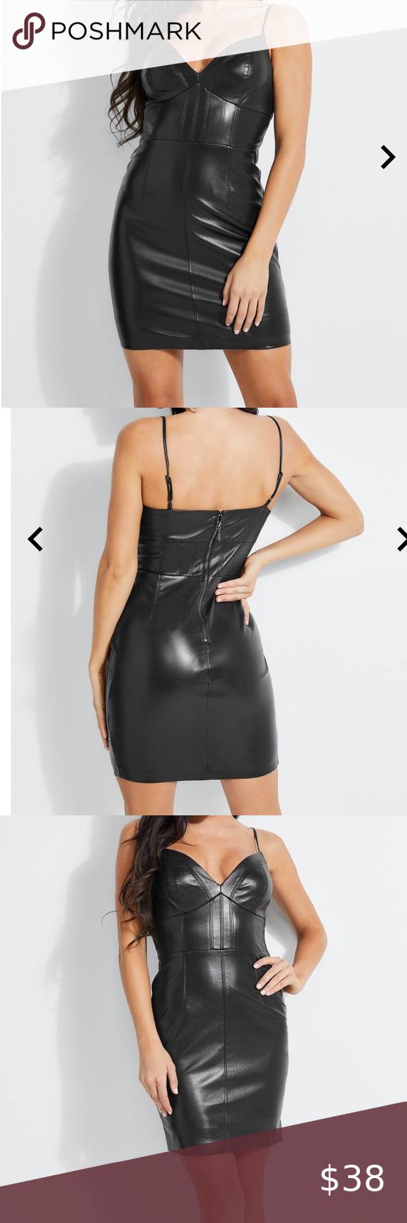Guess Leather Bodycon Dress Leather Bodycon Dress Bodycon Dress Clothes Design [ 1740 x 580 Pixel ]