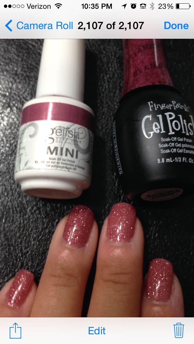 Gelish polish color: Mauvy-Mauve and Finger Paints gel polish color ...