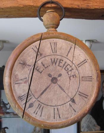 Folk Art Watchmaker's Trade sign