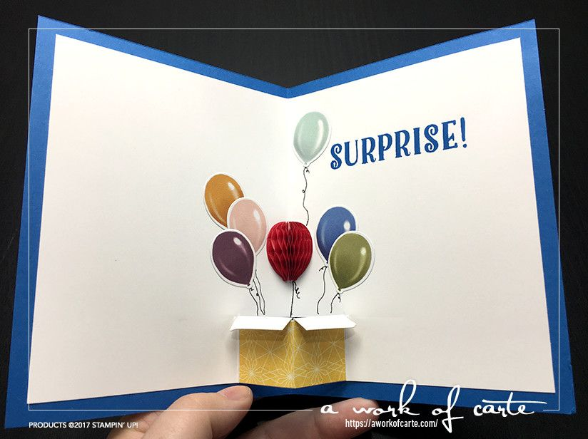 Birthday Popup Card Surprise With Balloons Exploding Out Of A