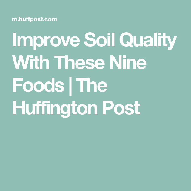 Improve Soil Quality With These Nine Foods | The Huffington Post