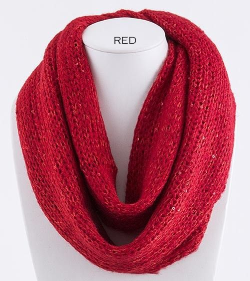 Red scarf + Red lips