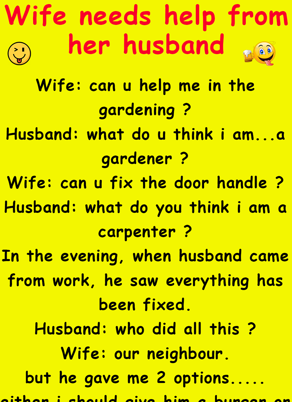 Funny Conversation Between Neighbours : funny, conversation, between, neighbours, Needs, Husband, Humor,, Jokes,