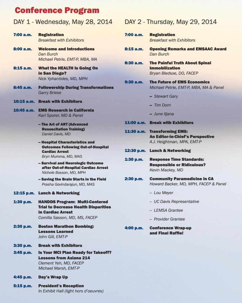 conference programs examples