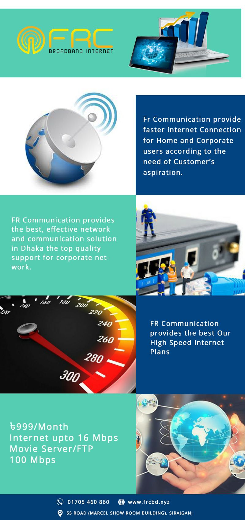 FR Communication provides the best, effective network and