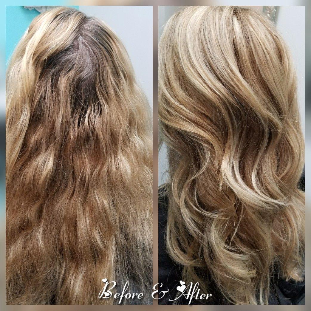 Summer Blonde Before After Artistic Hair Modern Hairstyles Long Hair Styles