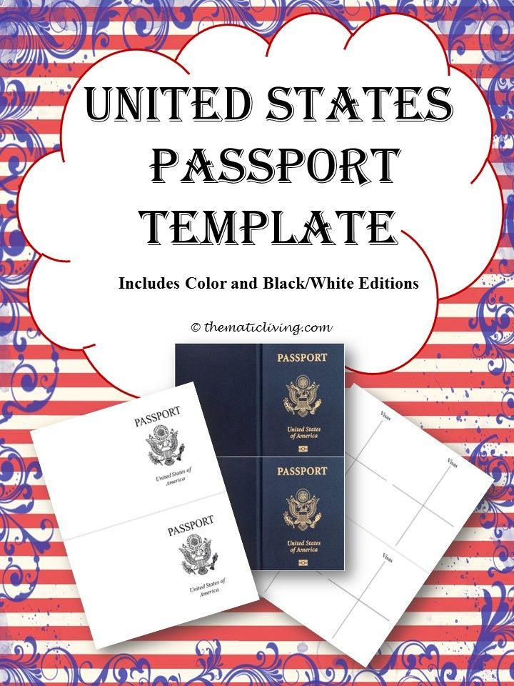 united states passport template