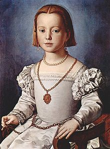 Bronzino, Portrait of Bia, a posthumous portrait of Bia de' Medici, the illegitimate daughter of Cosimo I de'Medici, 1542' The Uffizi, Florence One of my very favorites!  Painted after her death at about age six.  She was adored by her father in an age when girls were not treasured.