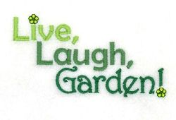 Live Laugh Garden - 5x7 | What's New | Machine Embroidery Designs | SWAKembroidery.com Starbird Stock Designs